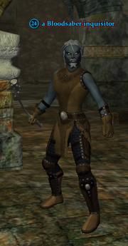 A Bloodsaber inquisitor (dark elf)