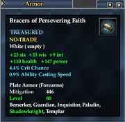 Bracers of Persevering Faith