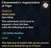 Chronomaster's Augmentation of Vigor