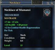 Necklace of Mumansi