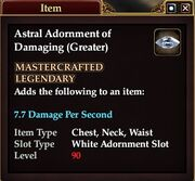 Astral Adornment of Damaging (Greater)