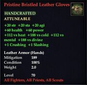 Pristine Bristled Leather Gloves