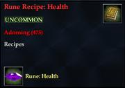 Rune Recipe- Health