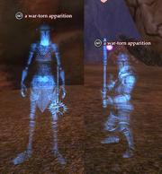 A war-torn apparition
