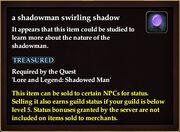 A shadowman swirling shadow