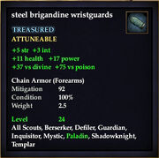 Steel brigandine wristguards