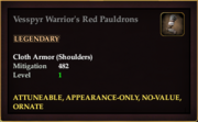 Vesspyr Warrior's Red Pauldrons