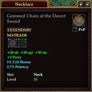 Gemmed Chain of the Desert Sword