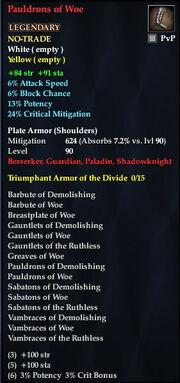 Pauldrons of Woe