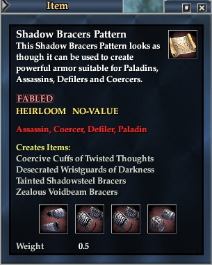 Shadow Bracers Pattern