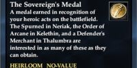 The Sovereign's Medal