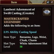 Lambent Adornment of Swift Casting (Greater)