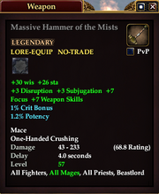 Massive Hammer of the Mists