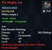 The Mighty Axe