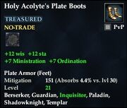Holy Acolyte's Plate Boots