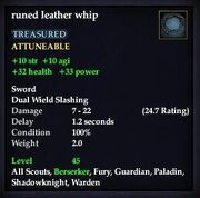 Runed leather whip