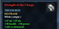 Strength of the Charge