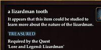 A lizardman tooth