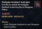 Duhjalm Sentinel Activator
