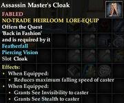 Assassin Master's Cloak