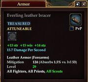 Everling leather bracer