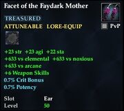 Facet of the Faydark Mother