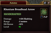 Rhenium Broadhead Arrow