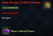 Rune Recipe- Critical Chance
