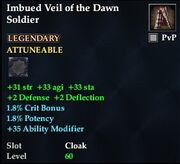 Imbued Veil of the Dawn Soldier