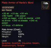 Plate Armor of Harla's Word