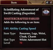 Scintillating Adornment of Swift Casting (Superior)