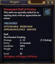 Ornamental Staff of Destiny