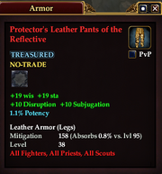 Protector's Leather Pants of the Reflective