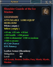 Shoulder Guards of the Ice Maiden