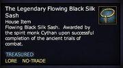 The Legendary Flowing Black Silk Sash