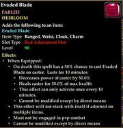 War rune evaded blade