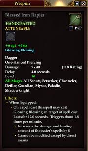Blessed Iron Rapier