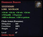 Doomseer Bracers
