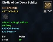 Girdle of the Dawn Soldier