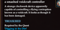 A smashed voidcraft controller
