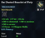 Fae Dusted Bracelet of Piety