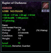 Rapier of Darkness