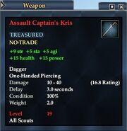 Assault Captain's Kris