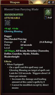 Blessed Iron Parrying Blade