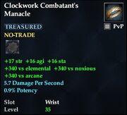 Clockwork Combatant's Manacle