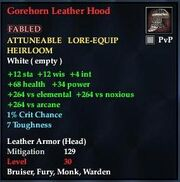 Gorehorn Leather Hood