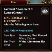 Lambent Adornment of Reuse (Greater)