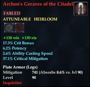 Archon's Greaves of the Citadel