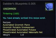 Dabbler's Blueprints 0.005