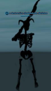 A destructive shadowbone skeleton